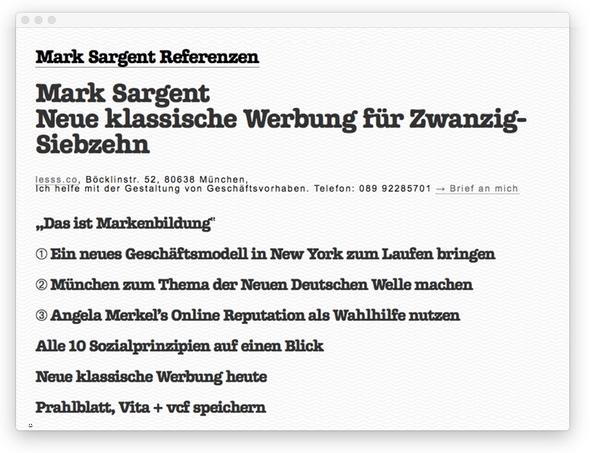 Mark Sargent Referenzen 2017