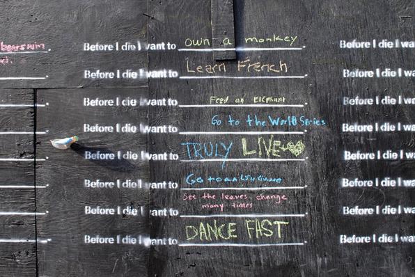 Before I die… chalk board