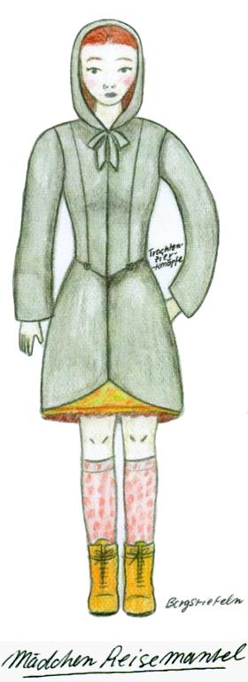 Girl coat for traveling