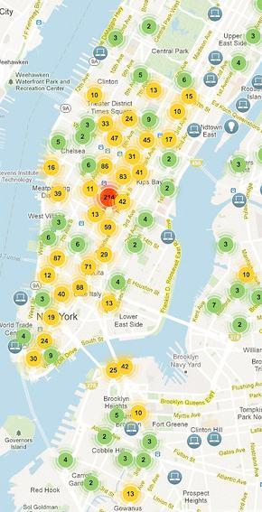 Angzeigte Neugründungen in New York City
