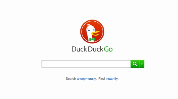 DuckDuckgo's Suchfenster