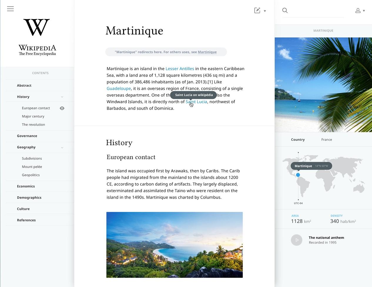 Salomon Aurélien Wikipedia Neugestaltung am Beispiel Martinique.