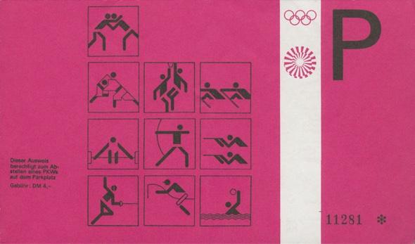 Otl Aicher Munich 72 Olympics pass