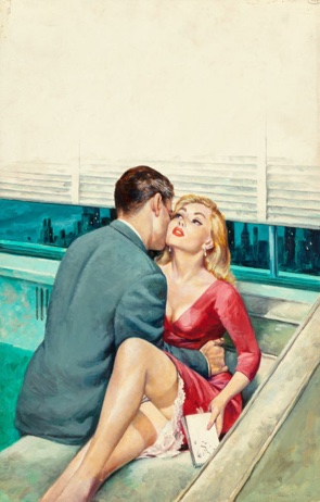A History of pulp, pg-13-erotica, and illustration in one auction