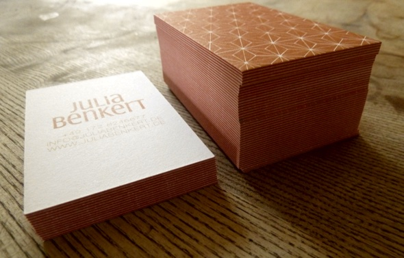A Business Card For Julia Benkert New Classic Advertising