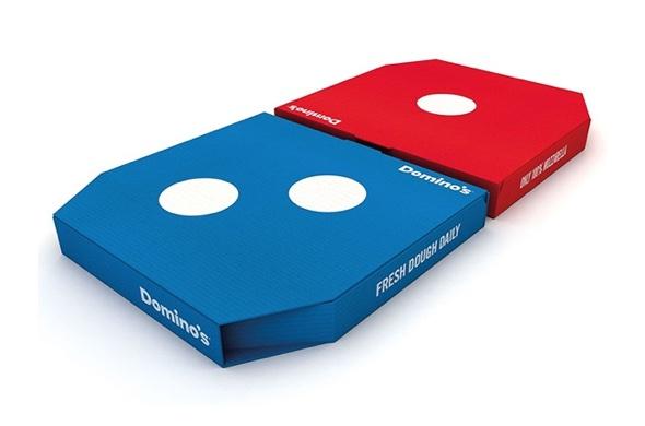 UK Domino's neue Pizzaboxen von Designer Jones Knowles Ritchie sind Weltklasse