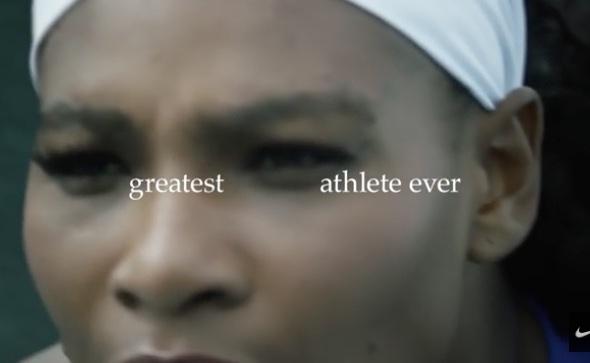 Nike Anzeige erklärt Serena Williams zur größten Athletin aller Zeiten. Ganz recht, besser als Michael Jordan, besser als Muhammad Ali.
