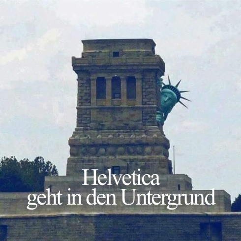 Helvetica geht in den Untergrund