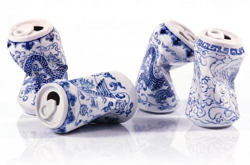 Bavarica porcelain beer cans