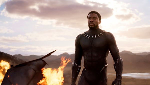 "Chadwick Boseman in a scene from ""Black Panther,"" in theaters on Feb. 16, 2018. (Marvel Studios/Disney via AP) (Associated Press)"