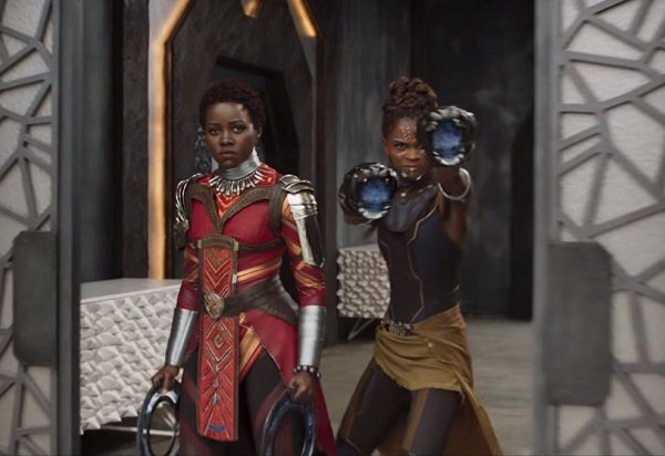 Nakita and Shuri (Letitia Wright), T'Challa's half sister.