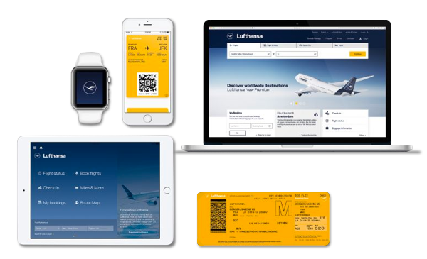 The Lufthansa yellow is now exclusively reserved for passenger facing communication.