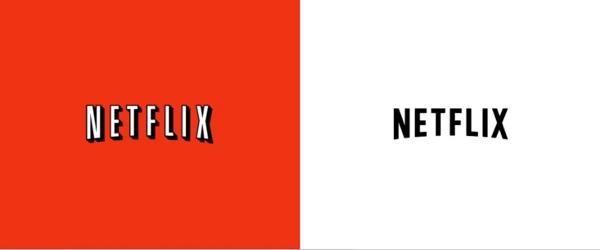 Links das altbekannte Logo von 1987 und unter dem Einfluss von flachem Design 2014.