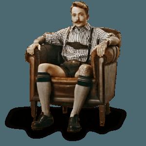 Bayr. Hipster in der Opel Werbung