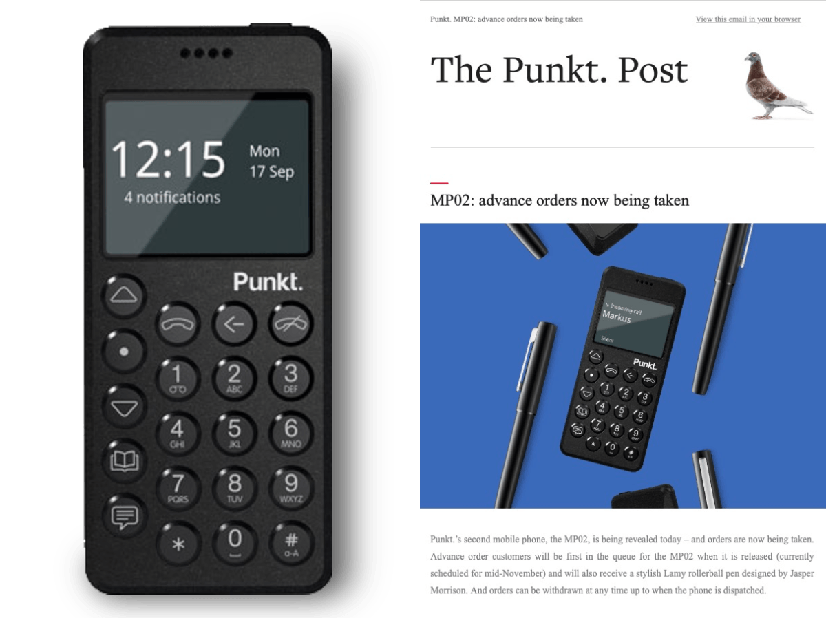 Punkt Tronics inctroduces their next cell phone made in Switzerland.
